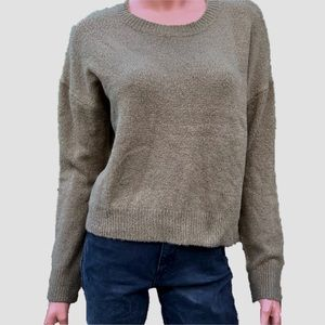Forever 21 Army Green Knit Crew Neck Sweater